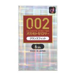 岡本 薄度均一 0.02EX 前端合身 (日本版) 58/56MM 6 片裝