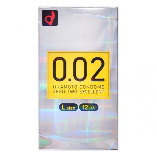 岡本 薄度均一 0.02EX 大碼 (日本版) 58MM 12片裝