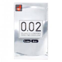 岡本 薄度均一 0.02EX 大碼 (日本版) 58MM 6 片裝