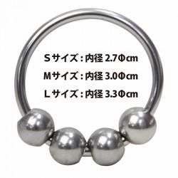 TOAMI 戀物癖4球超金屬環-M碼